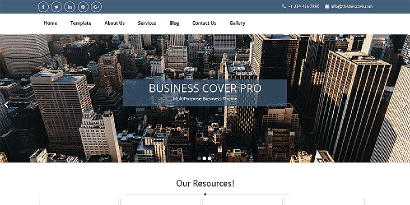 businesscover free business wordpress themes