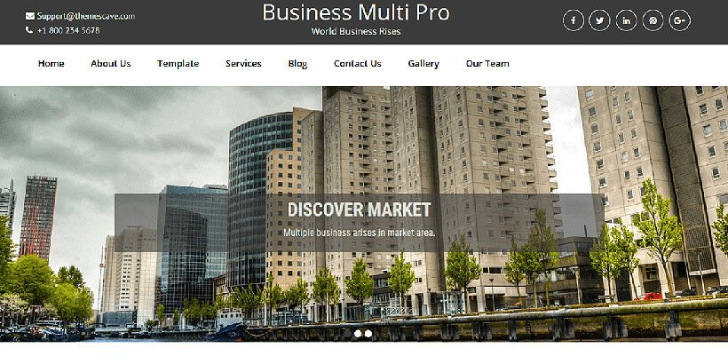 businessmulti free business wordpress themes