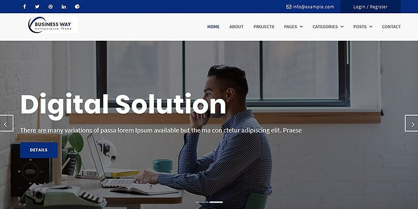 businessway free business wordpress themes