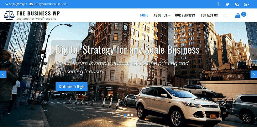 businesswp free business wordpress themes