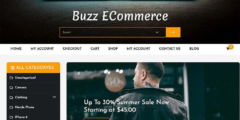 buzz free woocommerce themes