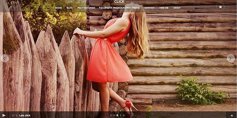 click free photography wordpress themes
