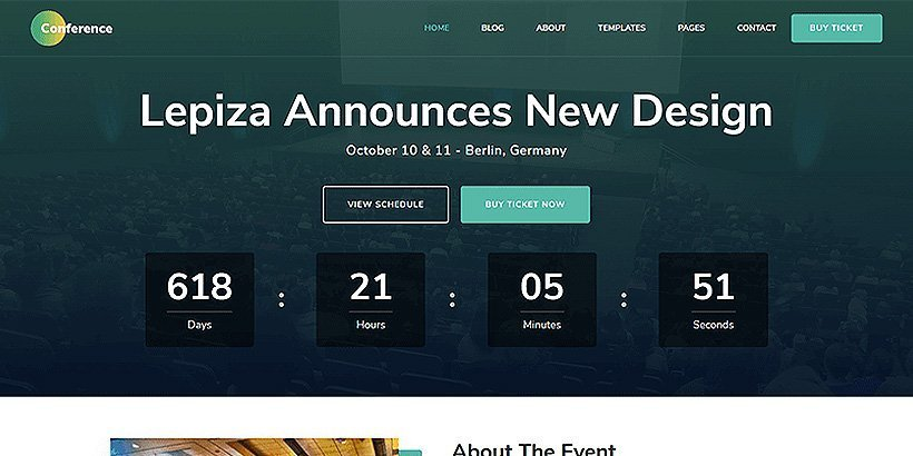 conference free event wordpress themes