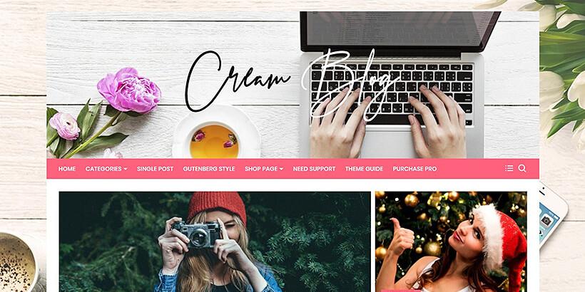 creamblog theme