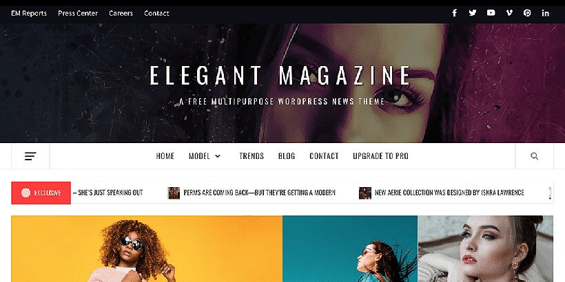 elegant free magazine wordpress themes