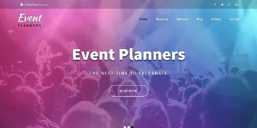 eventplanners free event wordpress themes