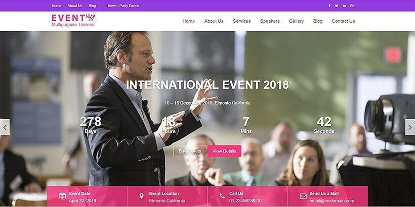 eventstar free event wordpress themes
