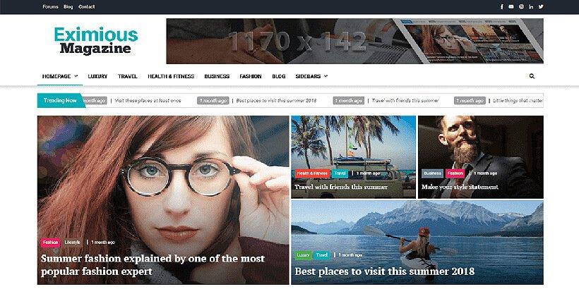 eximious free magazine wordpress themes