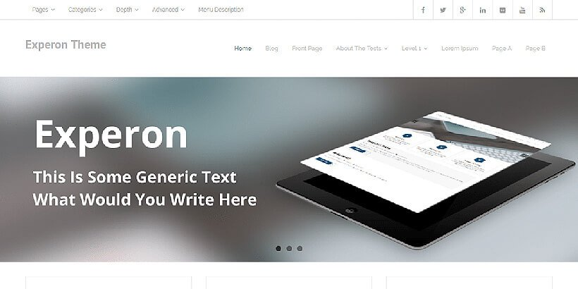 experon free business wordpress themes