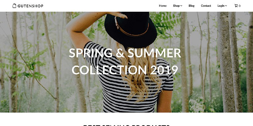 gutenshop free woocommerce themes