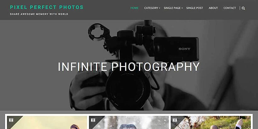 infinite free photography wordpress themes