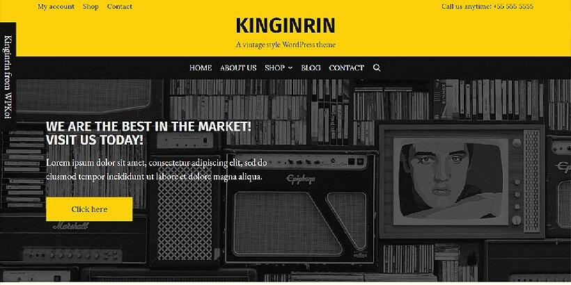 kinginrin free event wordpress themes
