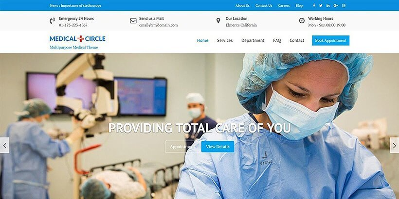 medicalcircle free medical wordpress themes