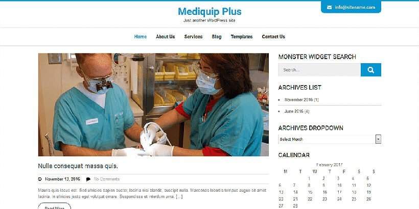 mediquipplus free medical wordpress themes