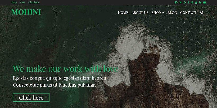 mohini free event wordpress themes