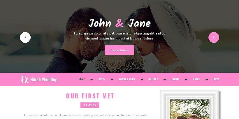 nikahwedding free event wordpress themes