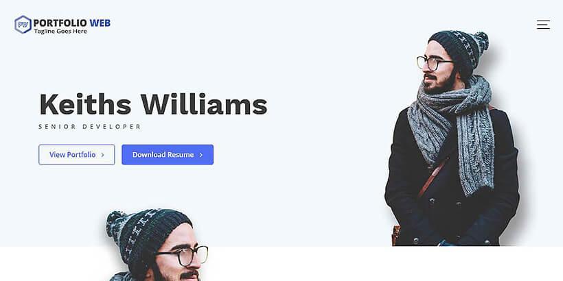 portfolioweb free portfolio wordpress themes