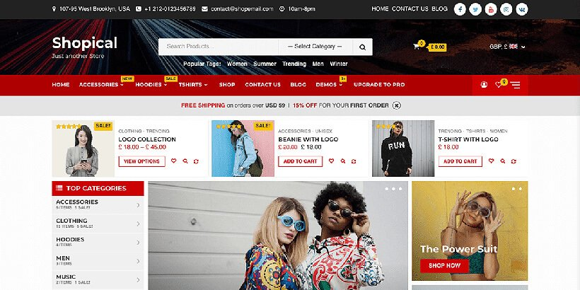 shopical free woocommerce themes