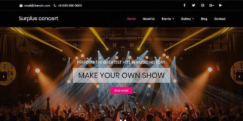 surplus free event wordpress themes