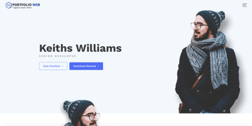 portfolio web free wordpress themes