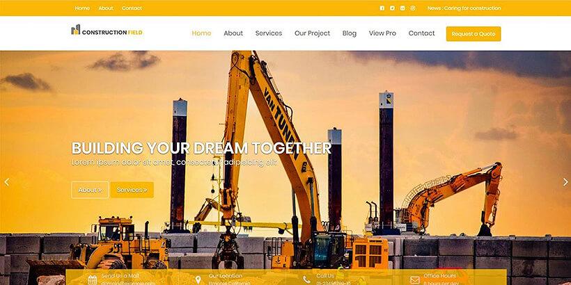 construction free gutenberg compatible wordpress themes