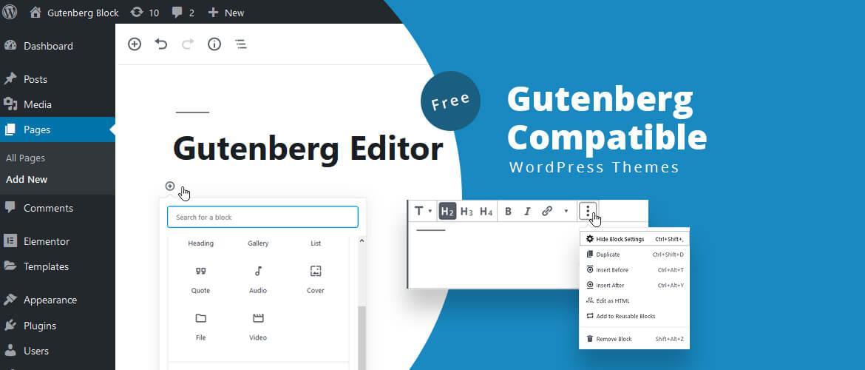 free gutenberg compatible wordpress themes