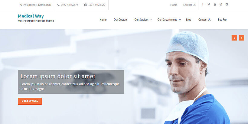 medicalway free gutenberg compatible wordpress themes