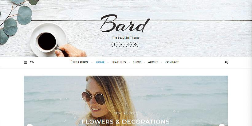 bard free feminine wordpress themes