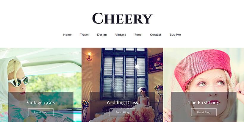 cherry free feminine wordpress themes