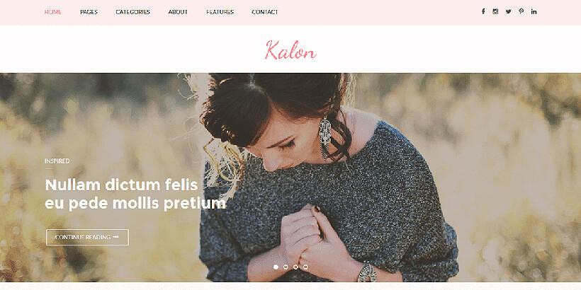 kalon free feminine wordpress themes