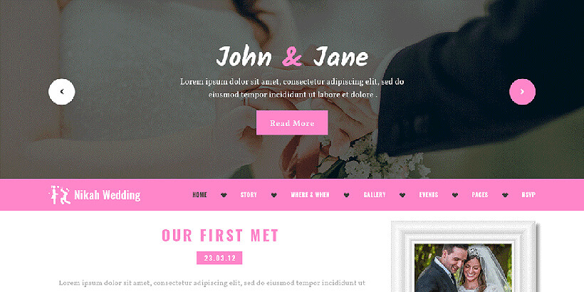 nikah free translation ready wordpress themes
