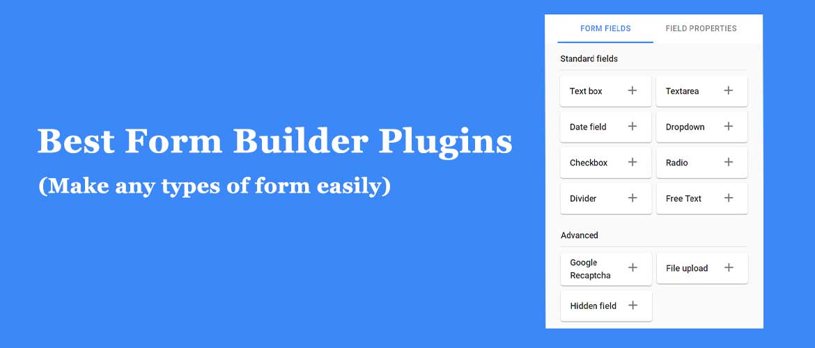 Popular and Best Form Builder plugins for 2020