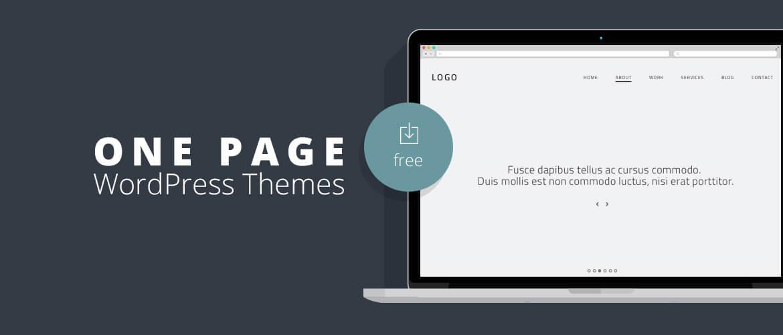 15+ Best Free One Page WordPress Themes 2020