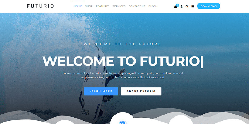 futoria free landing page wordpress themes