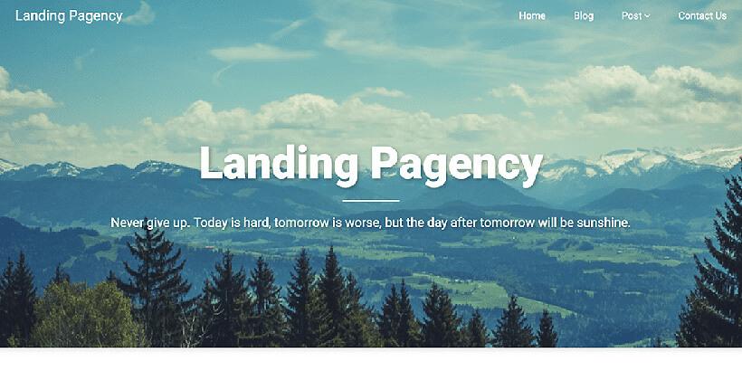 landingpagency free landing page wordpress themes