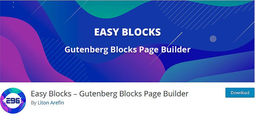easyblocks best gutenberg blocks plugins for WordPress