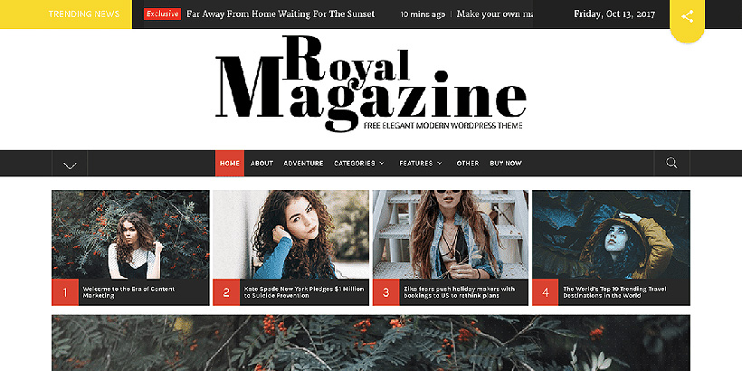 royal magazine free magazine wordpress themes