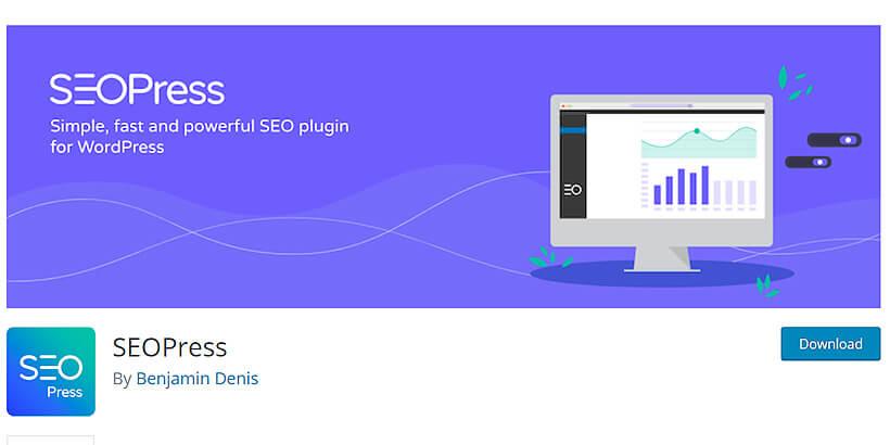 seopress free SEO plugins for WordPress