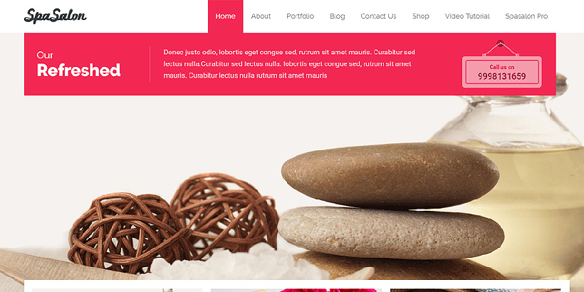 spasalon free beauty wordpress themes