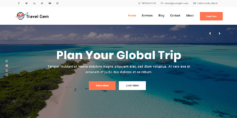 travelgem free wordpress travel themes