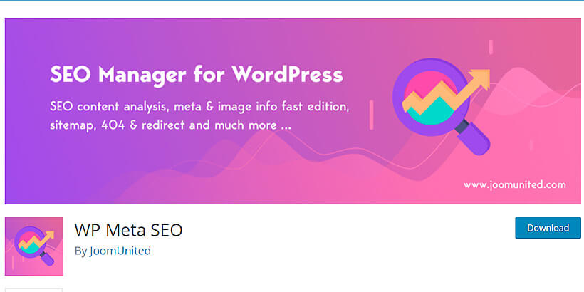 wpmeta free SEO plugins for WordPress