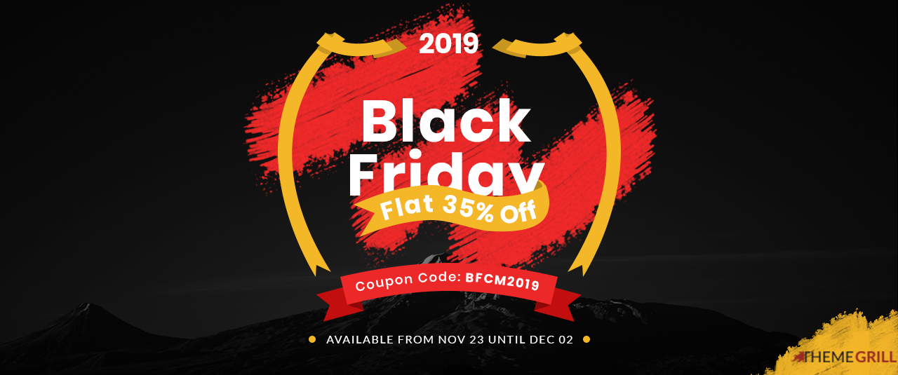 ThemeGrill Black Friday and Cyber Monday 2019