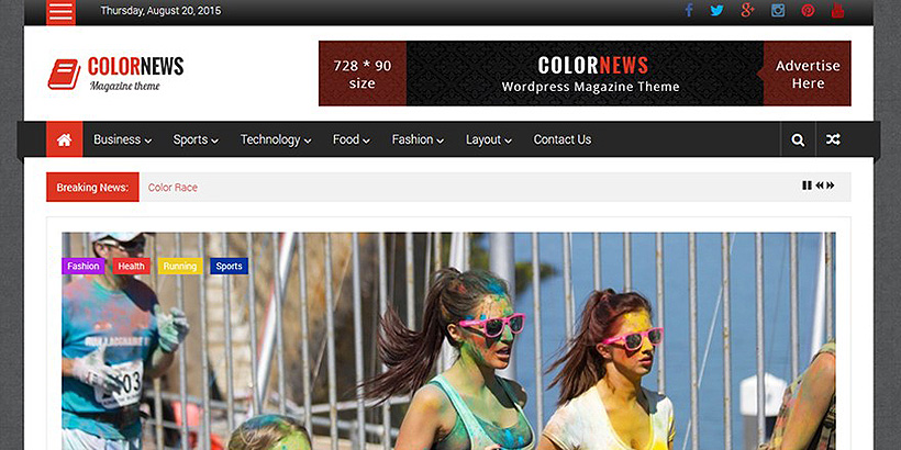 colornews free magazine wordpress themes