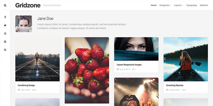 gridzone free wordpress themes