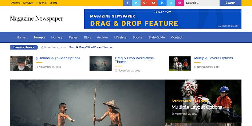 magazine newspaper free magazine wordpress themes