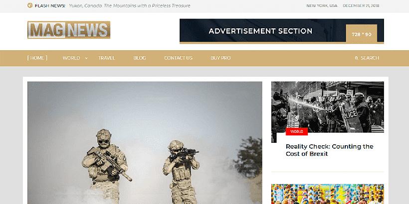 magnews free magazine wordpress themes
