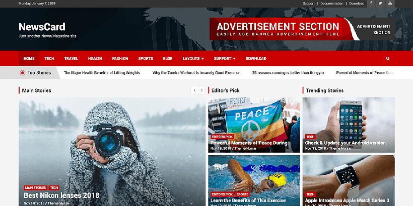 newscard free magazine wordpress themes
