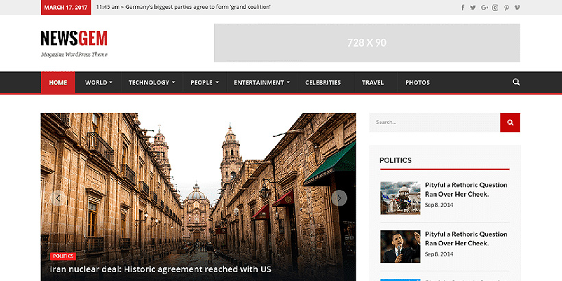 newsgem free magazine wordpress themes