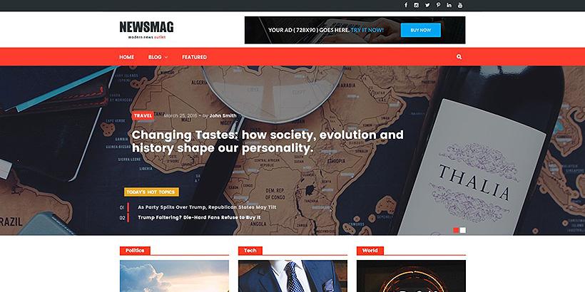 newsmag free magazine wordpress themes