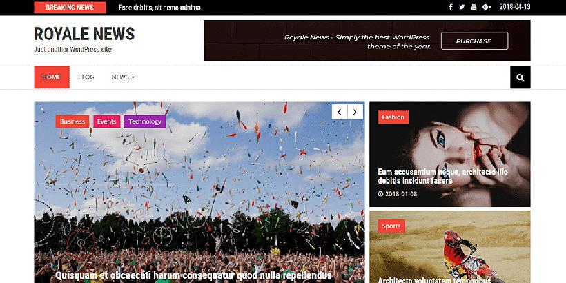 royalenews free magazine wordpress themes